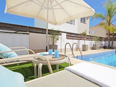 Photo for Protaras Holiday Home, Sleeps 5 with Pool, Air Con and WiFi