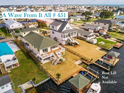Photo for A Wave From It All - Beautiful home in northern Surf City; Boat Dock!
