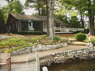 Photo for Waterfront cottage with private deck; enjoy the lake from the living room