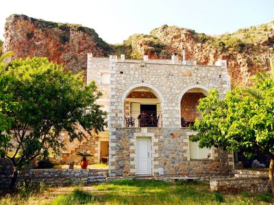 Photo for Oitylo Stone Tower in famous Mani area is a tr... - Six Bedroom Castle, Sleeps 14
