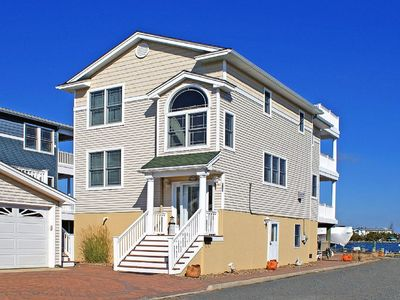 Photo for Bay front home, Ship Bottom, 4 bed 3 bath sleeps 9, CA, small pets considered