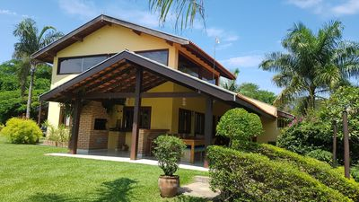 Photo for Country house in Tietê-SP w / 11 rooms, 5 baths, tennis courts and volleyball, wi-fi