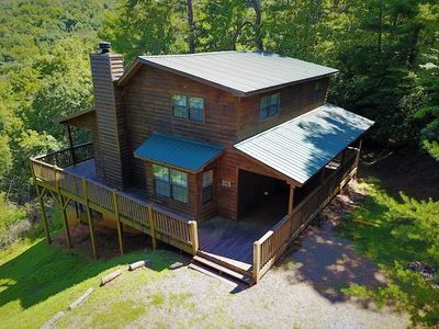 Photo for Hideaway Mountain Mountain View Vacation Cabin with Hot Tub, Game Room
