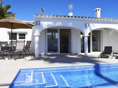 Photo for Wonderful and cheerful holiday house  with private pool in Denia, on the Costa Blanca, Spain for 6 persons