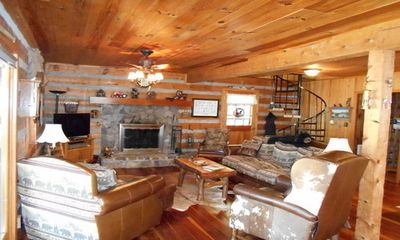 Photo for Our Log Cabin Has A Large, Level Yard And Is On the Watauga River.