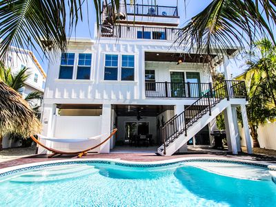 Photo for Gorgeous and spacious luxury home! Steps to Beach with a private Pool and Spa!