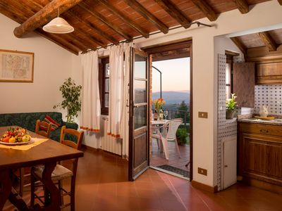 Photo for Beautiful three-room apartment in one of the most beautiful vineyards of Tuscany.