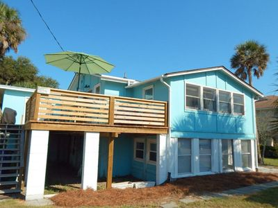 Photo for Ahh Folly Up~ 2BR Upstairs Apartment Steps Away from the Beach