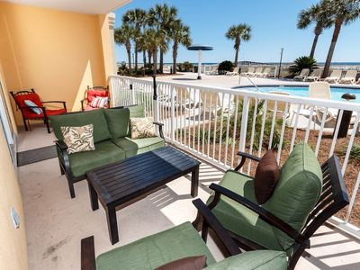 Photo for Ocean Front 3 BR, 3 BA/**Ground Floor walk out** Only steps to the beach**