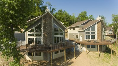 Photo for Lake-front 7 Bedroom Luxury Villa. Sleeps 18! Near the Great Smoky Mountains