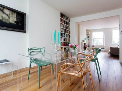 Photo for In stunning Belsize Park - Striking flat with amazing roof top terrace (Veeve)