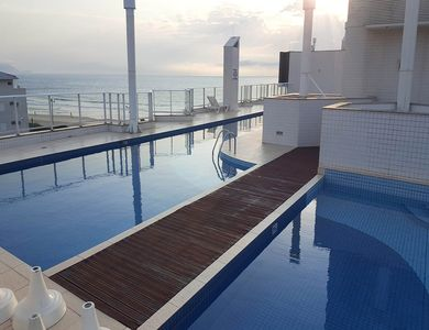 Photo for Apartment 3 Bedrooms, Sea Front, Pool, Balcony and barbecue! 7 people