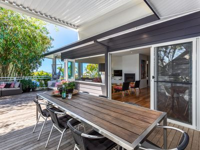 Photo for Stylish large designer home with stunning Harbour views-walk to beach and cafes.