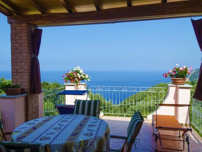 Photo for Beautiful semi-detached house with views of sky, woods and sea