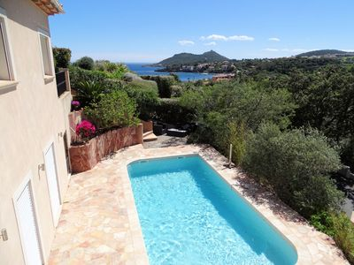 Photo for Beautiful villa with heated pool, internet, near beach for 8 people