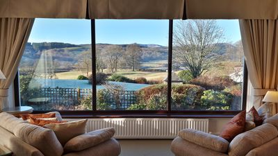 View from Lakefield House sitting room. Lake and Coniston fells view