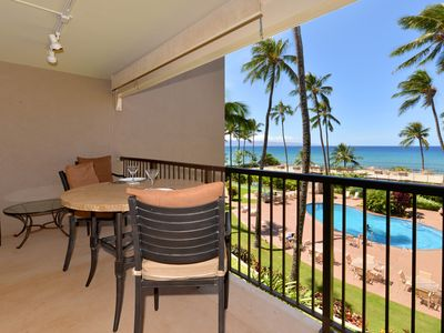 Photo for Beautiful Oceanfront! Huge Lanai!! Free Sunsets!  HOL #311