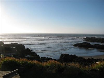 Churn and ocean from the outside deck