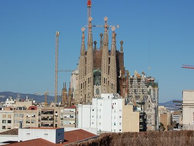 Photo for Wonderful open plan apartment with the best view in Barcelona