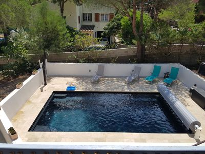 """Photo for Annex Private Villa """"the shade of the pines"""" renovated - new heated pool"""