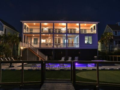 Photo for Dolphin Manor on Isle of Palms ~ OCEAN FRONT, PRIVATE POOL, HOT TUB!