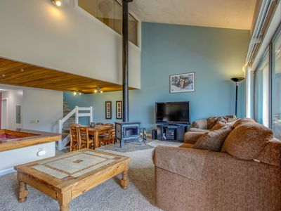 Photo for Cozy home w/amazing views, shared hot tub! Walk to slopes & enjoy free shuttle!