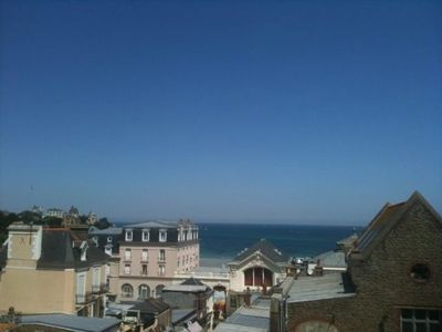 Photo for Beautiful sea view apartment 50 m from the beach in the heart of Dinard