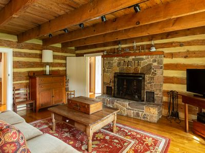Photo for Rustic log cabin in Warm Springs within walking distance of The Gristmill Inn