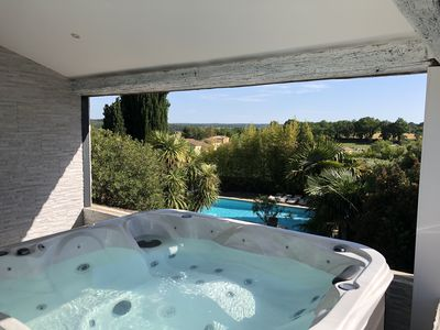 Photo for Beautiful holiday house 160 m² between sea and Cévennes near Uzès and Nîmes