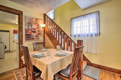 Gather around the formal dining table and dig in.