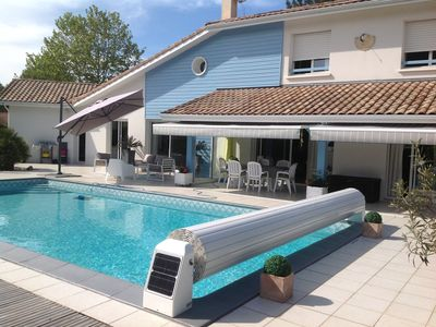 Photo for Spacious villa, heated pool, 6 people in a quiet location **** Moliets-et-Maa