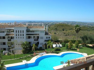 Photo for Modern apartment in luxurious complex with sea views, close to golf courses u. Beach