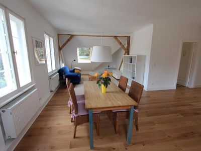 Photo for Spacious 3-bedroom attic apartment in the countryside