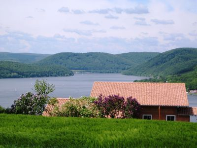 Photo for Large holiday home consisting of two units with a nice view of the Edersee