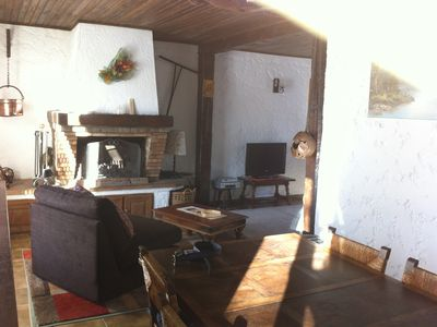 Photo for Charming chalet 800 meters from the slopes in a small ski resort