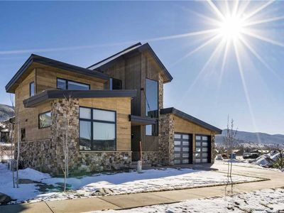 Photo for BRAND NEW Luxury Modern Mountain Home with sweeping summer views of Steamboat and Private Gondola