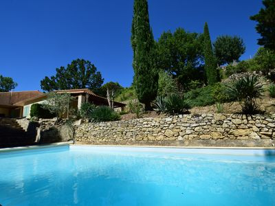 Photo for Beautiful Villa dominant and private with swimming pool- Classified 3 *** Hérault Tourisme