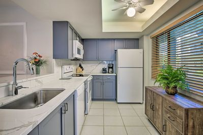 This recently remodeled Bonita Springs condo offers an updated and full kitchen.