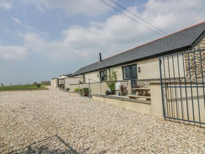 Photo for TREVENNA BARN, pet friendly, with a garden in Veryan, Ref 982198
