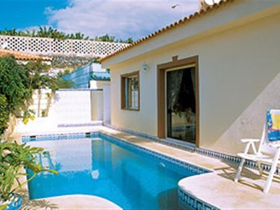 Photo for lovely 3 bedroom villa with private heated pool, quiet relaxing location
