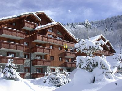 Photo for Apartment on skis - south exposed terrace with mountain view - pool & sauna
