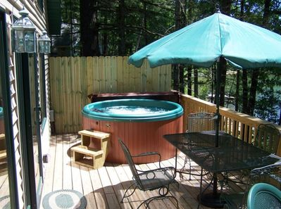 Outdoor Hot Tub usable all year 'round!