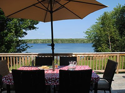 Photo for Lakefront Retreat With Sandy Beach, Perfect For Kids
