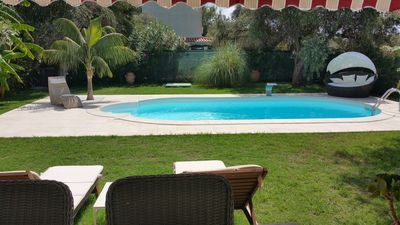 Photo for Villa Ines, sul mare con piscina