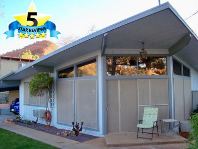 Photo for Quiet Comfortable Home, Spa, Fenced Private Yard, Views, Hiking & WiFi!