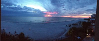 Photo for Beachfront Condominium with Dramatic Sunsets!