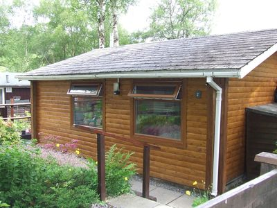 Photo for PEACEFUL LOG CABIN GETAWAY IN BEAUTIFUL COUNTRYSIDE, 4 BERTH SELF CATERING