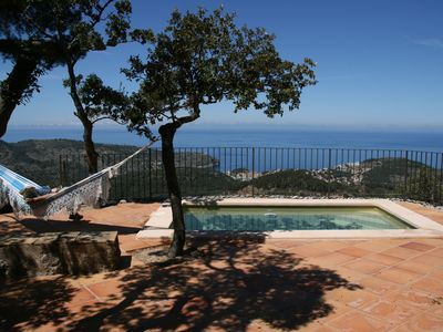 Photo for Typical renovated stone house with stunning views. Wifi. pool