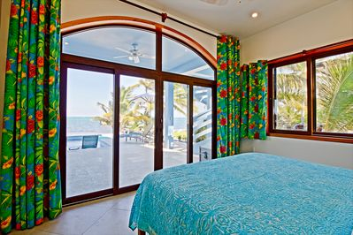 Peacock Suite, views of pool and Caribbean