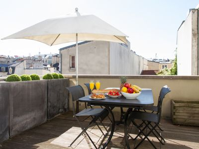Photo for SPACIOUS APARTMENT IN THE HEART OF THE MARAIS WITH LARGE PRIVATE TERRACE